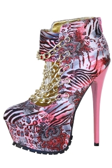 Pink Safari High Heel