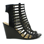 Black Ankle Out Wedges
