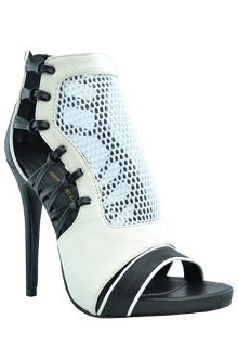 Black and White Loca High Heel