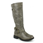 Grey Zipper Boot