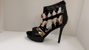 Black Bead High Heel