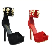 Ankle Studded Heel