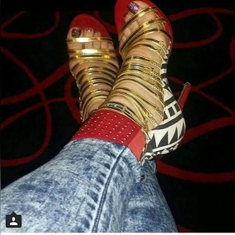 Red Ankle Straps Heel